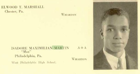 Max Martin Yearbook Photo from the Wharton School, University of Pennsylvania