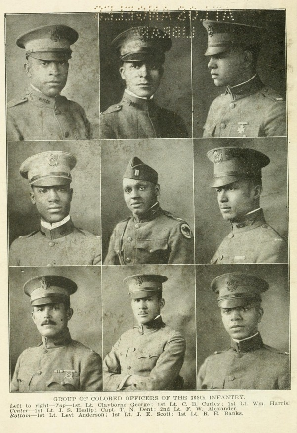 Colored Officers of the 368th Infantry