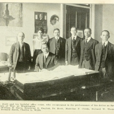 Dr. Emmett J. Scott and his Office Corps