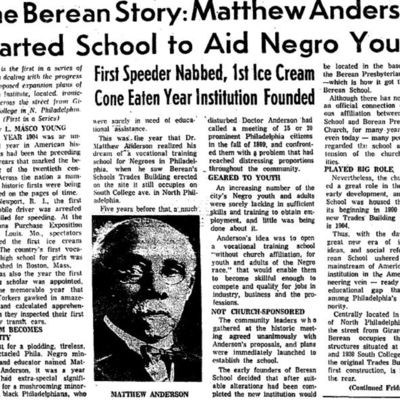 Matthew Anderson, Berean School Article.JPG